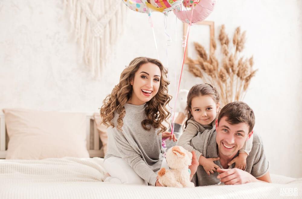 Оригинальная фотосъемка для семьи