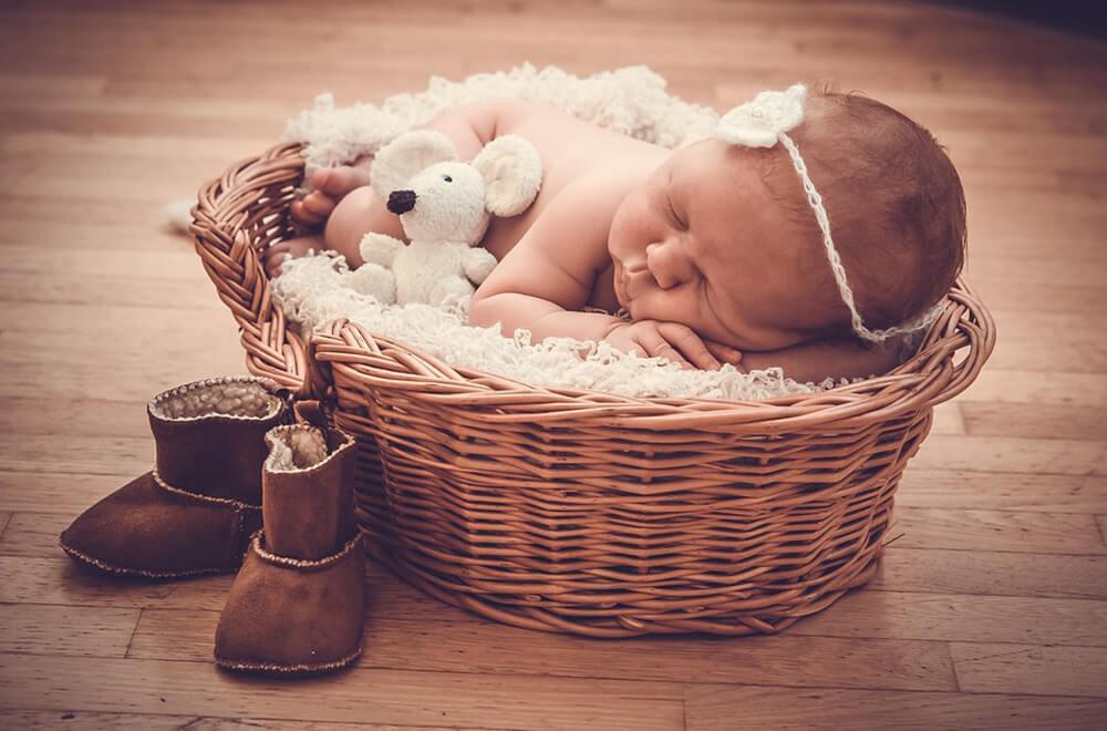 Организация фотосессии для младенца
