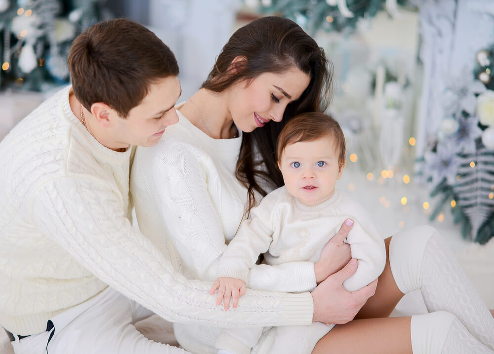 Фотосессия на Новый год с семьей
