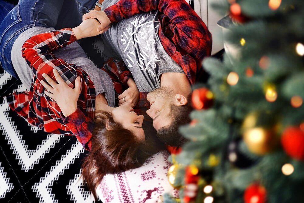 Новогодняя фотосессия для влюбленных