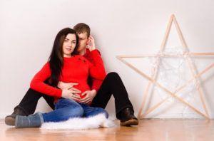 Зимняя фотосессия беременных