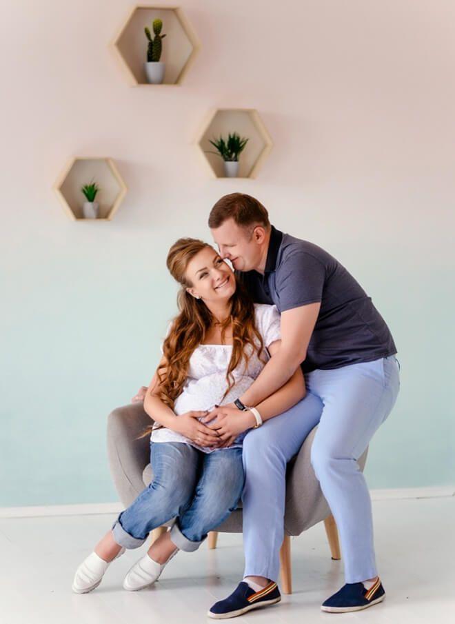 Фотосессия с беременной девушкой