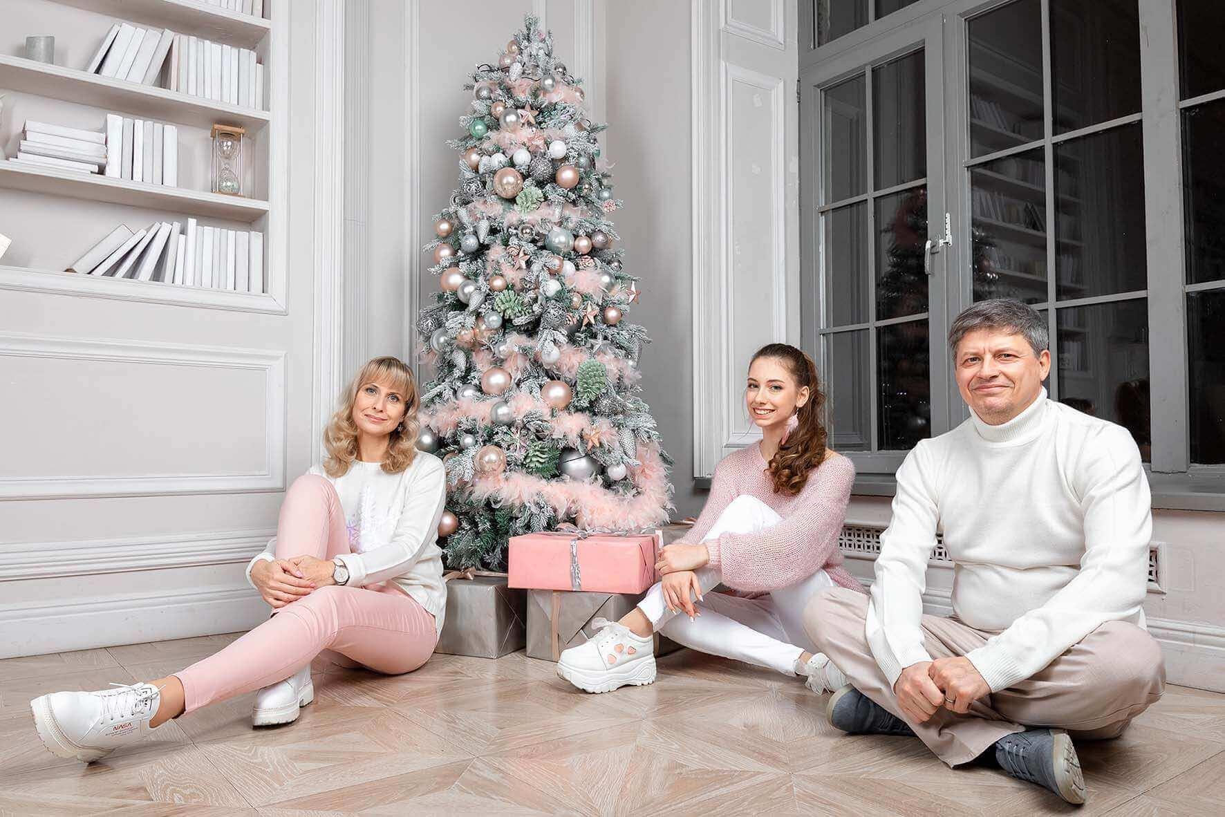 Новогодняя фотосессия для всей семьи