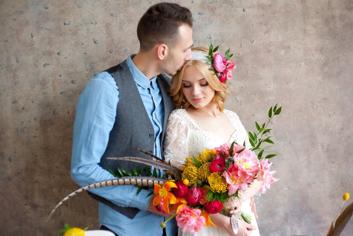 Свадебная фотосессия в студии в Москве